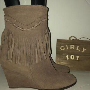 Steven by Steve Madden Eragon fringe brown size 7